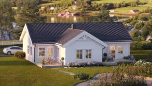 Vallersund- Enebolig på ett plan, 3 soverom, meget gode solforhold, sjøutsikt.