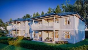 Heimdal - Bygging igangsatt - 1 solgt - Sentralt - Halvparter med 3 soverom, stor åpen stue/kjøkkenløsning.