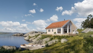 LAKSÅVIKA - Flott Kvarstad med to soverom med hems med flott utsiktstomt over Trondheimsfjorden.