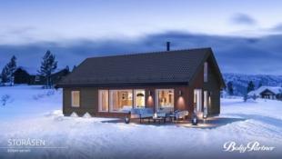 Oppdalslia - Familiehytta Storåsen med hele 121 m² gulvflate i naturskjønne omgivelser - Skiløype og turterreng - Kort vei til sentrum