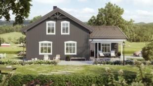 Enebolig med hele 5 soverom i Lysthaugen, Verdal. Landlig med utsikt over dalen og fjorden.