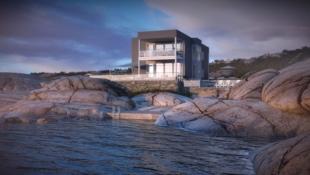 Moderne og stilfull enebolig i byggefelt med utsikt over innseilingen til Oslo!