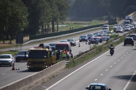 Ongeval meerdere voertuigen A44 Sassenheim