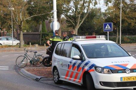 Ongeval motor en fietsster Parklaan Sassenheim