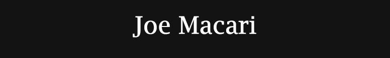 Joe Macari Performance Cars