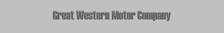 The Great Western Motor Company
