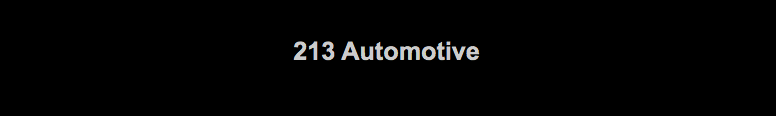 213 Automotive