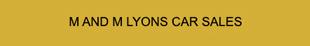M & M Lyons Car Sales logo