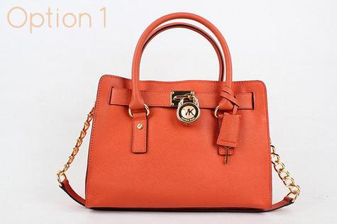 4a52f4482d7f Small Orange Michael Kors Hamilton Handbag - 100% Authentic handbag - dust  bag