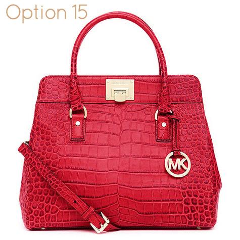 4c206b952f3e Crocodile Embossed Red Michael Kors Handbag - 100% Authentic handbag - Red  crocodile-embossed leather - Golden Hardware - Tote handles