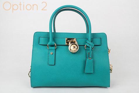 1aa79f724f83 Small Blue Michael Kors Hamilton Handbag - 100% Authentic handbag - dust bag