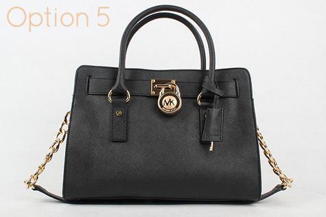 c0aa6e1de799 Small Black Michael Kors Hamilton Handbag - 100% Authentic handbag - dust  bag, tag and authenticity card are included - Black leather - Golden  Hardware