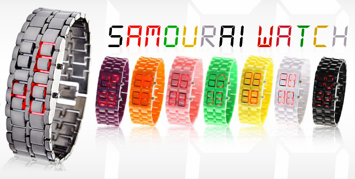 Funky Coloured LED Samurai Watch