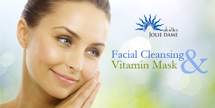 A facial cleansing + Vitamin Mask