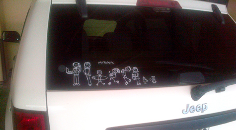 My sticker family me is offering you a fun unique new way to showcase your family and friends these easy to apply vinyl car stickers come in a variety of