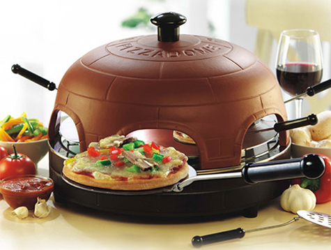 Fondue-Style Mini Pizza Clay Oven