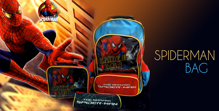 Spiderman Trolley Bag & Lunchbox