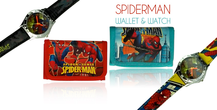Spiderman Watch & Wallet for Kids