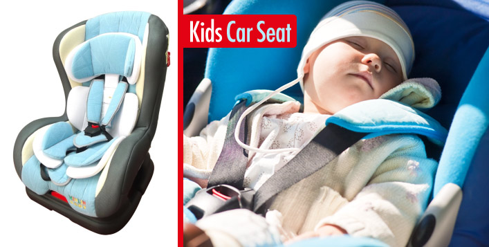 Cushioned Car Safety Seat for Kids