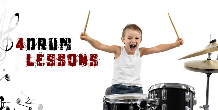 4 Individual Drum Lessons for Kids
