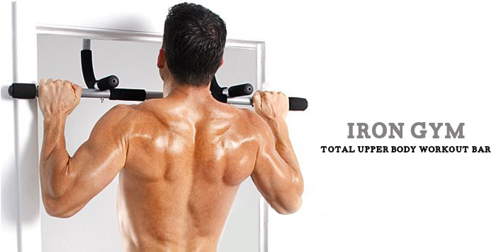 Upper body exercises with iron gym