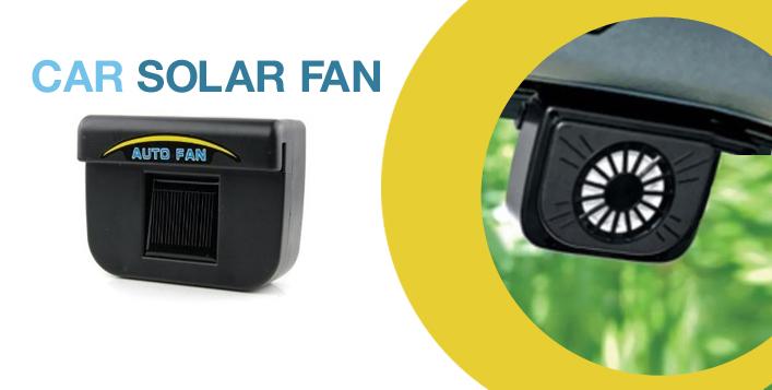 Interior Hot Air Venting Auto Solar Car Fan