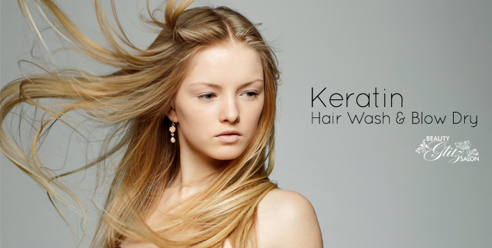 Shiny Hair with Brazilian Keratin