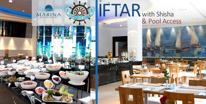 Iftar Buffet + Shisha & Pool Access