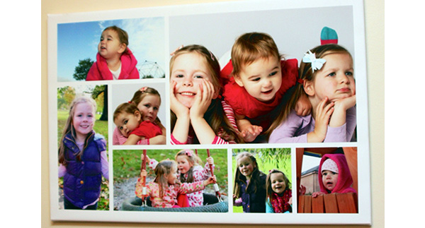 12 sizes of digital collage canvas printing