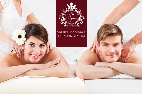 Ease your muscles with a 60 minute Swedish massage and a 30 minute aromatic deep cleansing facial for only AED 79 from En Vogue Beauty Centre in JBR!