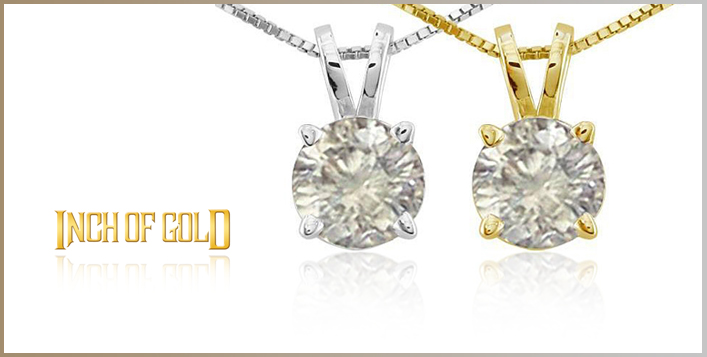 Cubic Zirconia Pendant with Gold
