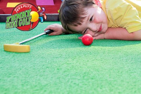 Challenge your friends or family and get 1 or 2 games of 18-hole indoor Mini Golf at Funky Mini Golf! Prices start at AED 37 only