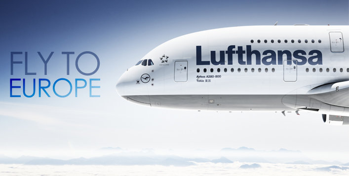Fly Lufthansa to Europe