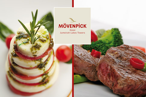 Want to impress your boss or client? Enjoy a business lunch buffet at nosh Restaurant, Mövenpick Hotel in JLT for just AED 59!
