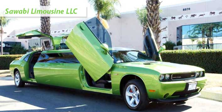 Stylish Green Dodge from Sawabi Limousines
