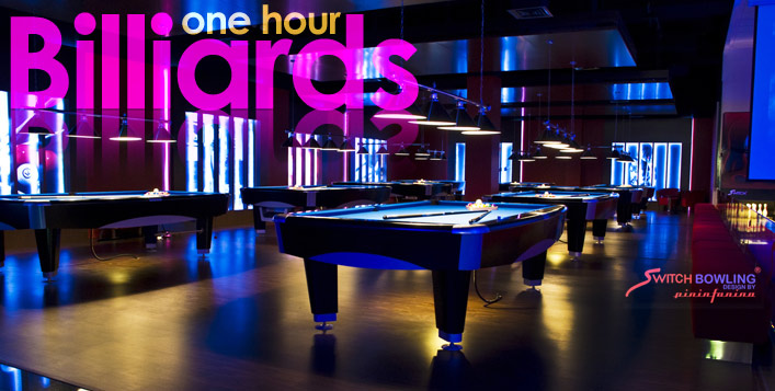 1-Hour of Billiards & 2 Soft Drinks