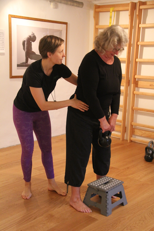 Pernille Springer underviser fysioterapi hold