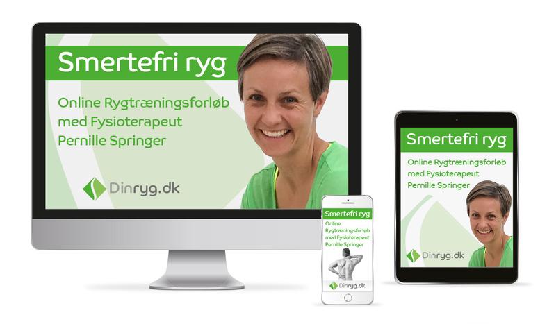 Smertefri Ryg Online Kursus med fysioterapeut Pernille Springer