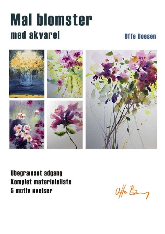 Mal blomster med akvarel