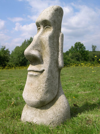Attrayant Set Of Four Easter Island Statues