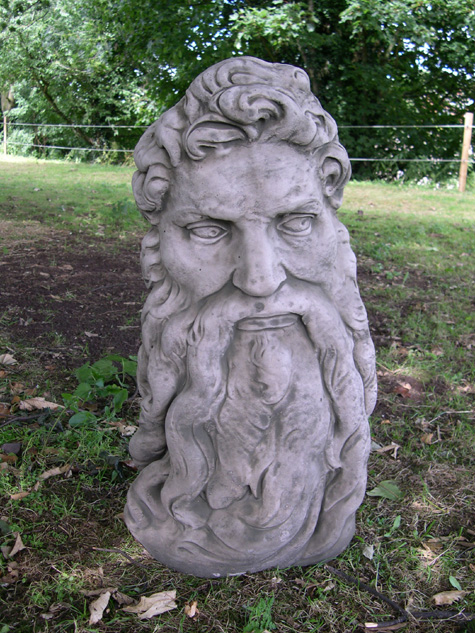Head Of Zeus Greek Stone Statue Ornament Ebay