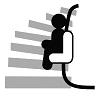 Monte-escalier tournant