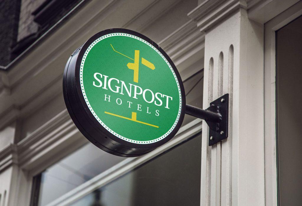 signpost logo design by Free Thinking Design