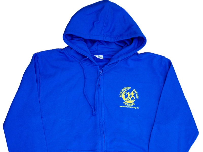 KIT-JH050 Unisex Zip Up Hoodie BVR logo Back and Front