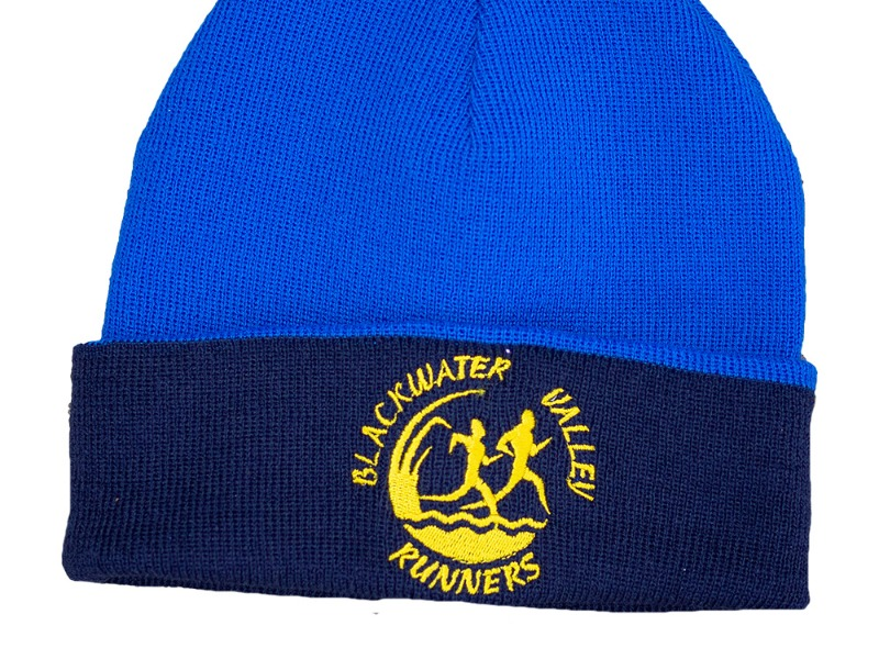 KIT- Beanie Two tone Royal blue Dark Blue BVR Logo