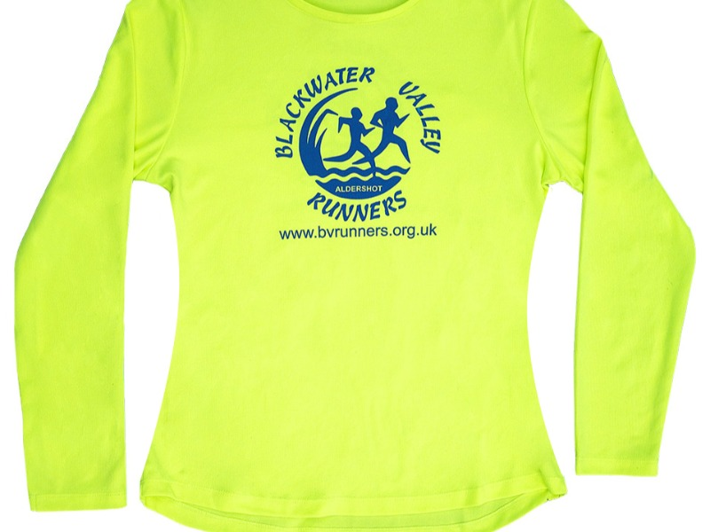 KIT -JC012 long Sleeve - Girlie fit - Electric Yellow with BVR logo