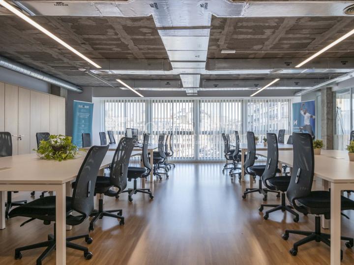 Oficina lluminosa de lloguer a la pl. Universitat, al centre de Barcelona. 6