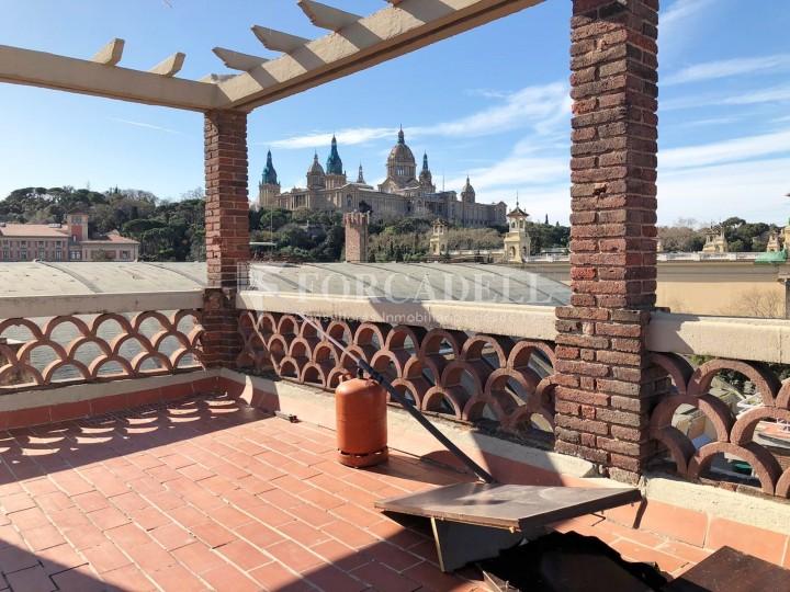 Àtic amb terrassa totalment reformat al barri del Poblesec, Barcelona 2