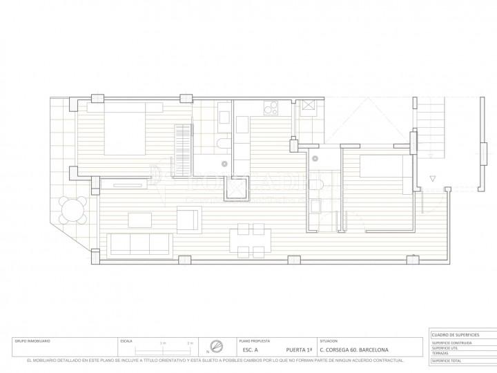 Fantàstics pisos a la venda, nous a estrenar, al barri de la Nova Esquerra de l'Eixample de Barcelona. Ref. V23401 9
