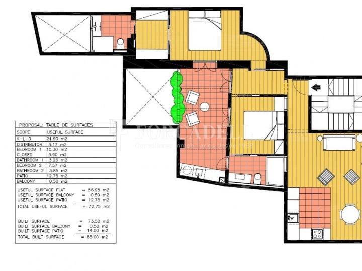 Apartment for sale of 88m² according to cadastre in the Born district of Barcelona. 9